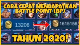 CARA MENDAPATKAN BATTLE POINT DENGAN CEPAT TAHUN 2020! - Trick Mobile Legends