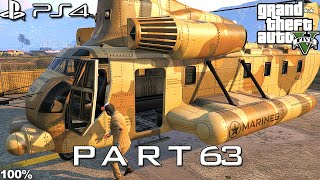 【GTA 5 100%】 Mission 30 - Cargobob - Walkthrough Part 63 [GOLD MEDAL]