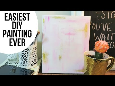How To: Easy Modern Painting | DIY Home Decor