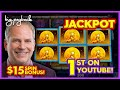 1st JACKPOT ON YOUTUBE!! for Wolf Run Gold Slot - AWESOMENESS!!!