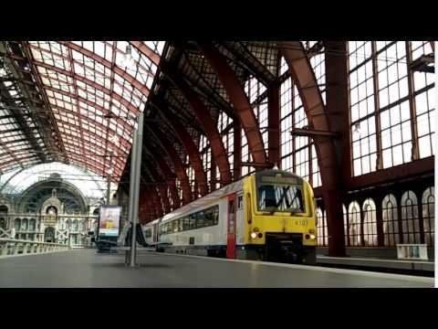 Antwerp Belgium Central Station Timelapse