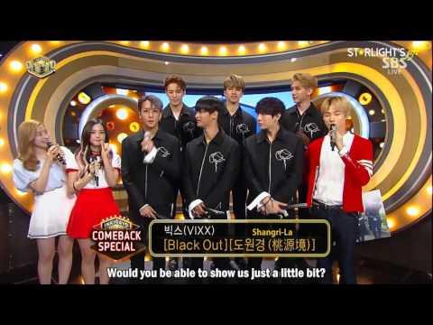 [ENGSUB] 20170521 SBS Inkigayo - VIXX Comeback Interview