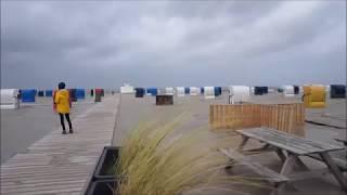 Sturmtief Sebastian an der Nordsee in Harlesiel