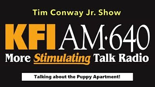 Modern Puppies Interview with Tim Conway Jr. on KFI AM Radio - iHeartRADIO Network - Puppy Apartment