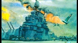 Камикадзе, Япония, эпизоды атак на корабли США, Тихий океан, 1941-1945, кинохроника