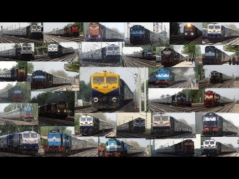 [33 in 1] Non Stop Diesel ALCo + EMD Express Trains at BAGRA TAWA : INDIAN RAILWAYS