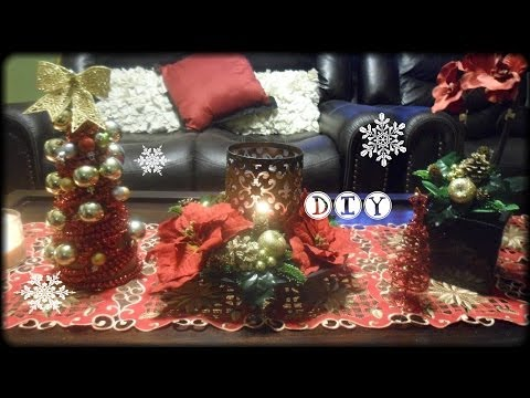 DIY Holiday Home Decorations + easy ideas with non home used centerpieces!
