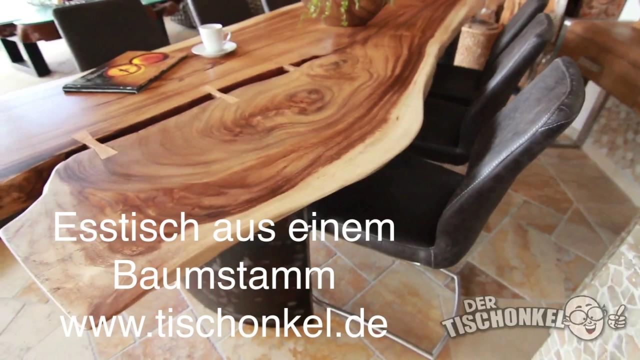 Esstisch Baumstamm