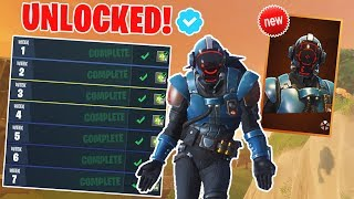 "Unlocking Legendary Skin ""THE VISITOR"" Blockbuster Challenge (Fortnite Battle Royale)"