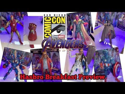 SDCC 2019 Marvel Legends Hasbro Breakfast Preview Avengers Endgame Wave 3 Revealed
