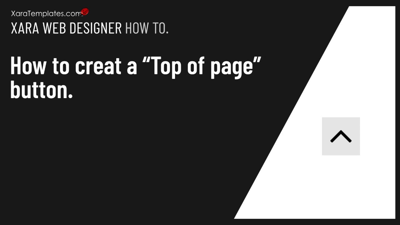 How To Create A Top Of Page Button Xaratemplates Com