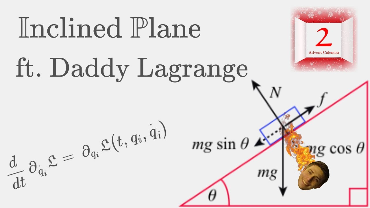 Download The Inclined Plane - Derivation using Lagrangian Mechanics!