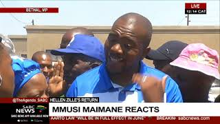 Maimane responds to Zille's announcement of her candidacy for DA Federal chairperson post