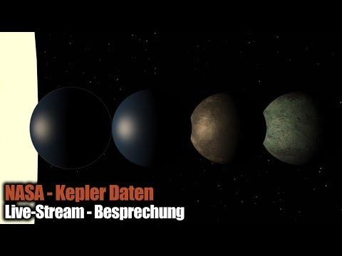 NASA Pressekonferenz 14.12.2017 Kepler Daten - Live-Besprechung - german/deutsch