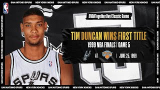 Tim Duncan leads Spurs to first championship in Game 5 of the 1999 #NBAFinals | #NBATogetherLive