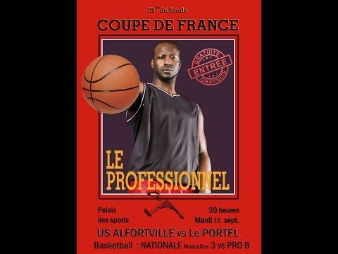 Basketball   32ème de finale   US Alfortville NM3 vs ESSM Le Portel ProB