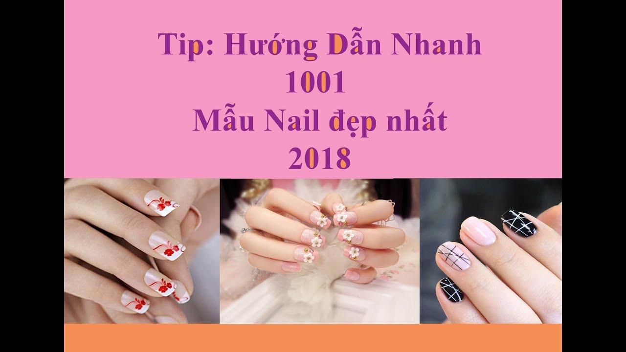 Tổng hợp hướng dẫn ngắn cách vẽ 1001 mẫu nail đẹp 2018