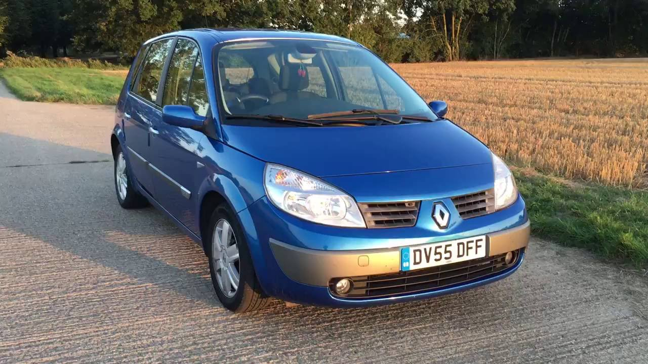2005 renault megane scenic 1 6 16v petrol auto video. Black Bedroom Furniture Sets. Home Design Ideas