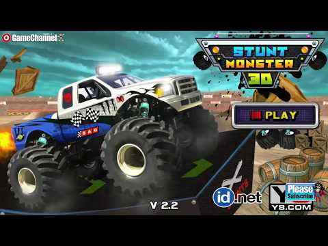 Stunt Monster 3D / Monster Truck Driving Game / Browser Flash Games / Gameplay Video