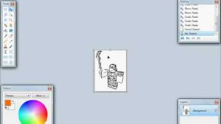 roblox how to create and print a robloxian to draw on