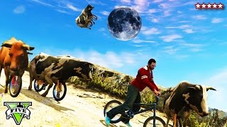 BMX COWS MOD on GTA 5 Online!!! - GTA 5 COWS Riding BMX Bikes - GTA PS4 Funny Moments Playlist