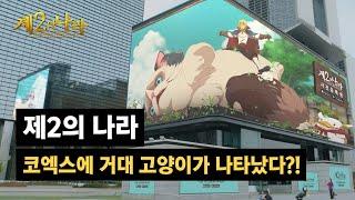 [제2의 나라] 코엑스에 거대 고양이 '우다닥'이 나타…