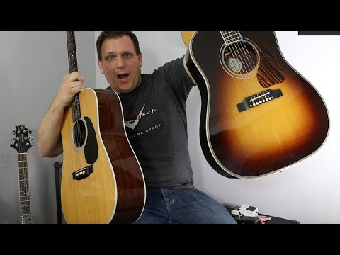 The Martin D28 Acoustic Guitar vs The Gibson J45 Rosewood   Acoustic  Showdown!