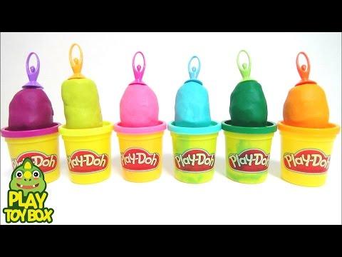 Ballet Play Doh Clay Slime learn Colours Orbeez DIY Kinderjoy Surprise Eggs Toys