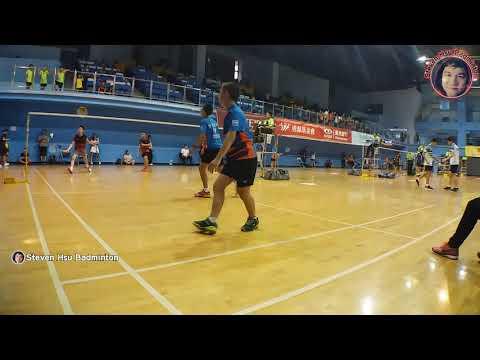 (高清)20190917U15MD林伯鴻+賴聖璋16(合庫飛樂豐原)VS Kong Zhou Swin+Lee Wen Chang31(馬來西亞)會長盃羽球賽