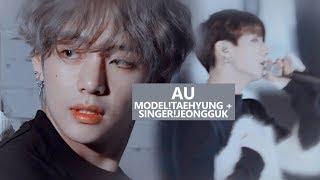 [taekook] vs model!tae + singer!jeongguk au