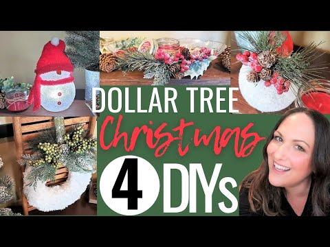4 NEW Dollar Tree 🎄 HIGH END CHRISTMAS Decor DIY | Easy Dollar Tree Christmas Decor Crafts (2020)