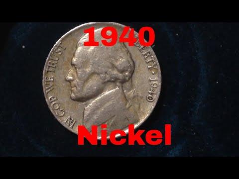 5 Cent Jefferson Nickel- 1940