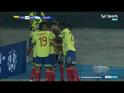 carrascal - gol sub 23 - Argentina - Colombia