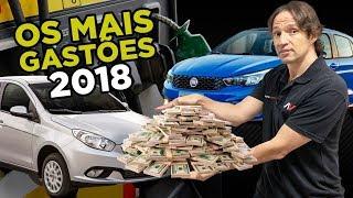 🤑8 Carros mais gastões do Brasil (com pior consumo) em 2018   AutoVideos
