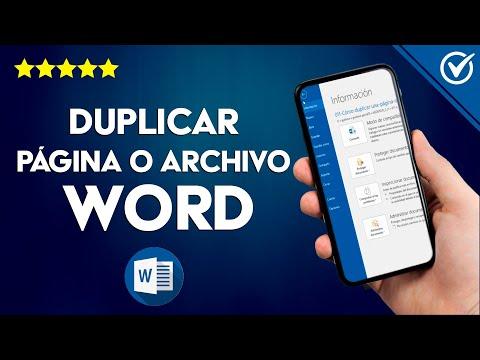 Cómo Duplicar una Página o Archivo de un Documento en Word Fácilmente