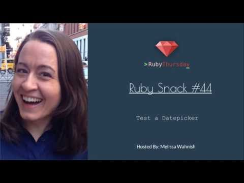 Ruby Snack #44: Test a Datepicker