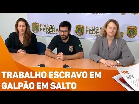 Trabalho escravo em galpão em Salto - TV SOROCABA/SBT