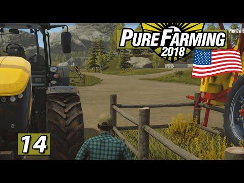 PURE FARMING 2018 🚜 Maschinen rüber gemacht ► #14 Landwirtschaft Weltweit deutsch USA Map