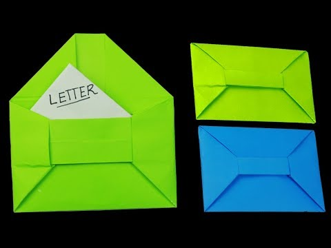 [NO GLUE Paper crafts] How To Make An Envelope With Paper at Home | DIY Letter Envelope Making