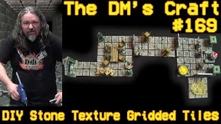 Easiest Stone Textured Gridded Tiles for D&D (DM's Craft #169)