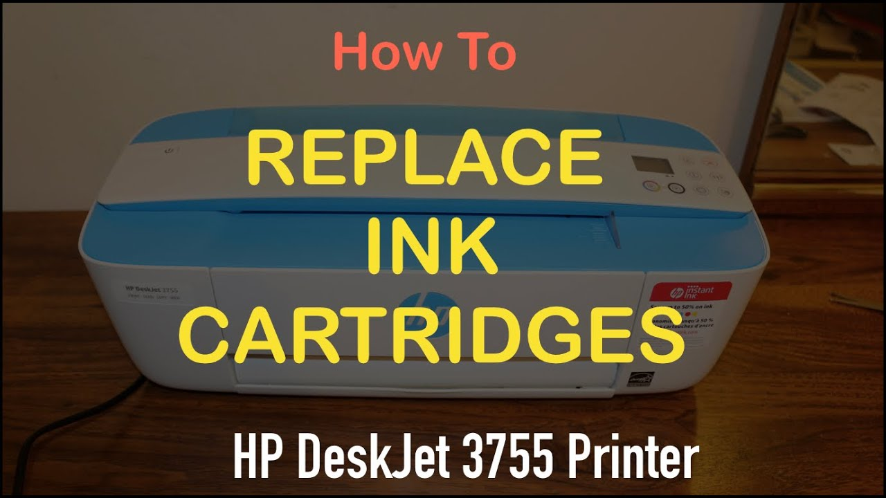 hp deskjet 3755 ink replacement review !! - YouTube