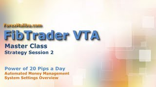 FibTrader VTA -Power Of 20 Pips a Day Settings - forex day trading software