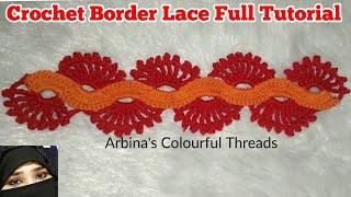 Beautiful Crochet border Lace Pattern By Arbina sathi,Crochet For Beginners