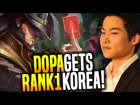 Dopa Finally Gets Rank 1 in Korea Again! - Dopa Rank 1 Korea Playing Twisted Fate! | Be Challenger