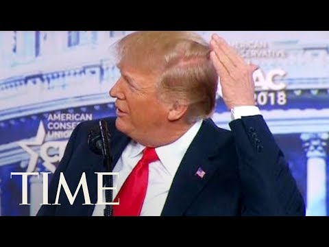 President Trump Jokes About His Bald Spot At CPAC: 'I Try Like Hell To Hide The Bald Spot' | TIME