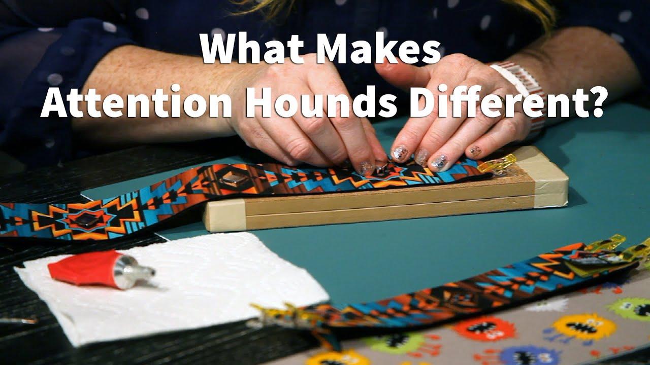 Attention Hounds Custom Designer Wide Dog Collars
