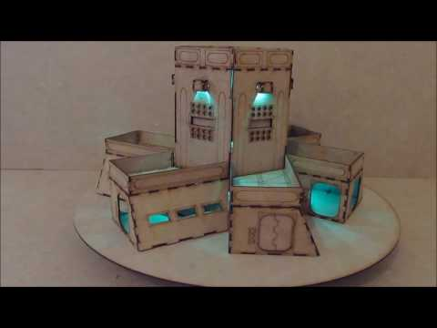 Wargame-model-mods – Command Centre – 28mm warhammer Buildings and terrain  – laser cut mdf
