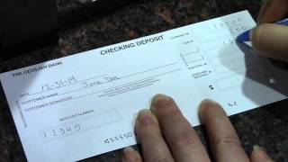 How To Complete A Deposit Ticket