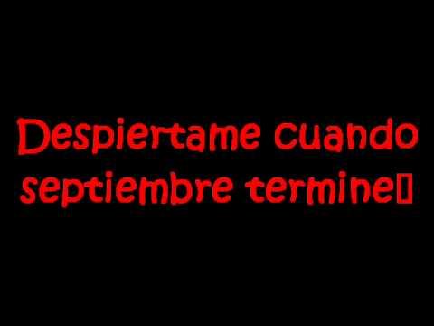 Green Day-Wake me up when september ends Subtitulado español - YouTube