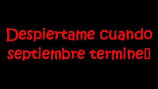 Green Day-Wake me up when september ends Subtitulado español